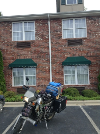 true adventurer staying in a hotel 3 nights, hendersonville, north carolina day 24