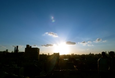 sunset eve o'clock