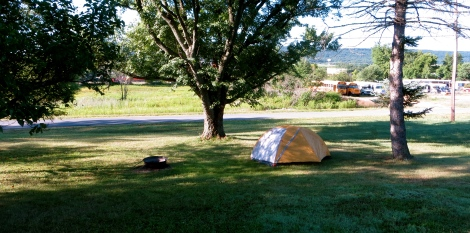camping on nathan's lawn