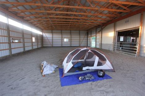 barn camping