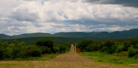 gate up, open road, La Quemada, Zacatecas
