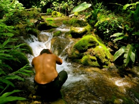 jungle bath, Xilitla, San Luis Potosí