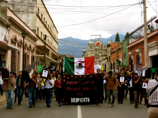 """""""wretched are those who remain quiet as their children are being killed. WAKE UP"""". Oaxaca, Oaxaca"""