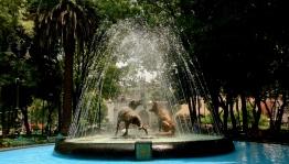 water war, Coyoacan, Mexico City