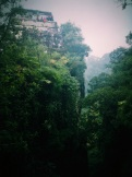 ancient pyramid perched on top of a jungly mountain in Morelos