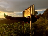 """let me just get comfy here to watch the sunset""- hitchhiker dude. San Jose del Pacifico, Oaxaca"