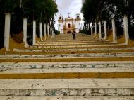 hanging out on the steps of purgatory. San Cristobal de las Casas, Chiapas