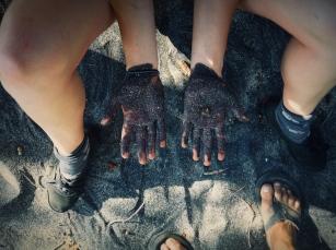 sticky sand, Playa Carbón, Costa Rica