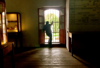barred in a board museum, Quetzaltenango, Guatemala