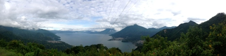 Telephone wires in all their glory feeding the surrounding towns of Lago Atitlán, Guatemala