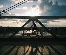 Honduran bridge commuter, Choluteca, Honduras