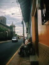 watching the world go by on wheels, León, Nicaragua