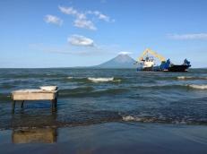lakstrucktion, Lago Nicaragua, Nicaragua