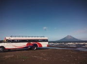taking the first bus to volcano island, Lago Nicaragua, Nicaragua