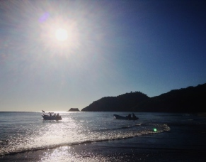 setting out for the evening catch, El Ostional, Nicaragua