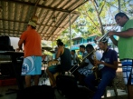 impromptu street concert of spiced up and tico'd out american pop, Playa Grande, Costa Rica