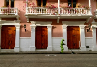 A man makes a living off the inconsideration of others. Cartagena