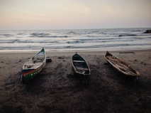 Three lonely boats await their day to fulfill their purpose. Tolú