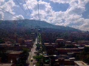 Los barrios de Medellín desde el cielo.