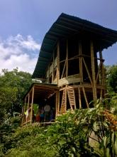 Building at the Ecoaldea Feliz, Cundinamarca