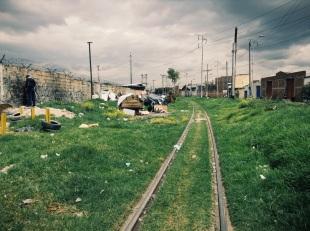 Marginalized wall pee'er of Bogotá