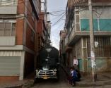 A few bogotanos hanging out on a corner of La Perserverencia, Bogotá