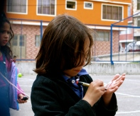 Secret hand message, not for the girl with kudos to read... Bogotá