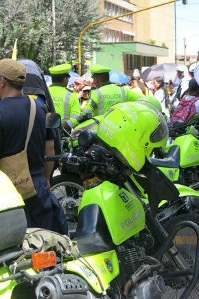 The neon police of Bogotá