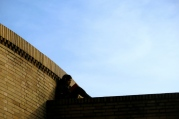 A student of the Universidad Nacional de Bogotá takes advantage of the solitude rooftops have to offer.
