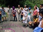 A guy takes a smartphone photo of a sacred ceremony on international water day, and in that photo happens to be a guy taking a smartphone photo of a sacred ceremony on international water day, San Francisco, Cundinamarca