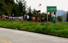 the liberty to hang clothes where you like, La Libertad
