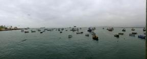 Morning scene at the bay in Huarmey.