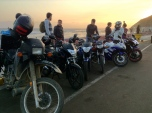 A surreal sunset with the boys from Barranco. They were kind enough to give a tour of their hometown to a fellow motorcyclist. Gracias Patas.