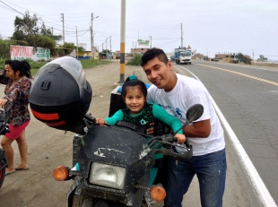 Finally found an up and coming motorist to buy the moto much to the dismay of her mother and overwhelming approval of her father. Barranco
