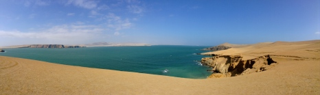Paracas national reserve. One of Perú's most valuable exports, guano, or bird poo, used to be mined here.