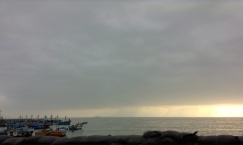 Pisco's boats say goodbye to another sun.