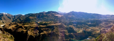 Colca Canyon in its early morning glory.