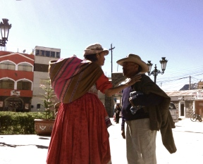 The touch of a hand makes the surrounding world melt out of consciousness for just a moment. Colca Canyon