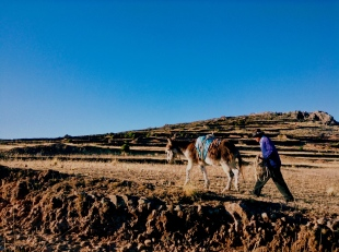Trekking up to Father Earth temple, a pre-Incan holy spot on the humble island of Amantani on Lake Titikaka.