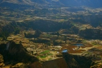The terraced fields of Colca Canyon.