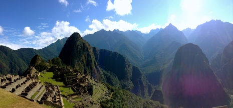 Ancient city on a hill. Machu Picchu