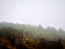 Foggy ancientness. Machu Picchu
