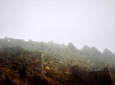 Foggy ancientness. Machu Picchu
