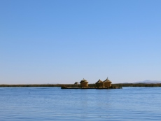 Floating Islands of Uros. Lake Titicaca