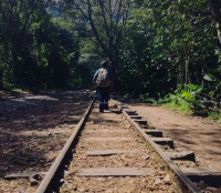 Walking the lonely line. Sacred Valley