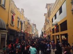 Human river. Lima