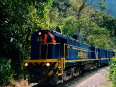 Peruvian peace train. Sacred Valley