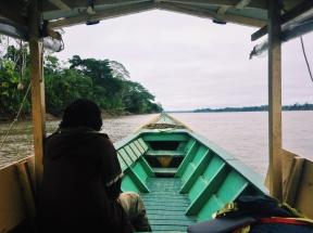 Boating up the Rio Madre de Dios. Puerto Maldonado