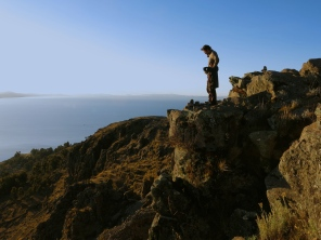 Don't look down. Lake Titicaca