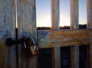 Magical lock. Lake Titicaca